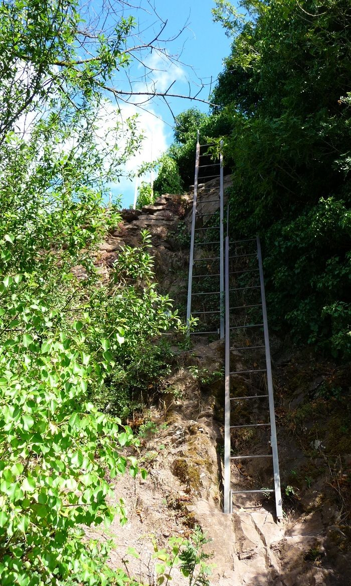 Leitern im Calmont Klettersteig