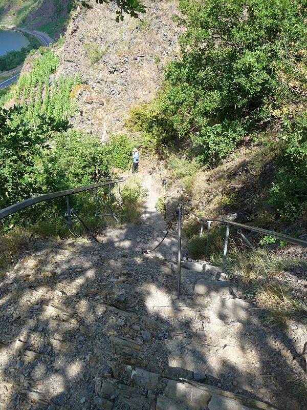 Der Einstieg in den Calmont Klettersteig.