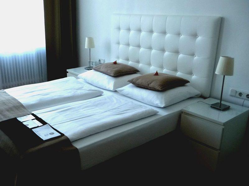 Ein Doppelzimmer im Burgblickhotel.