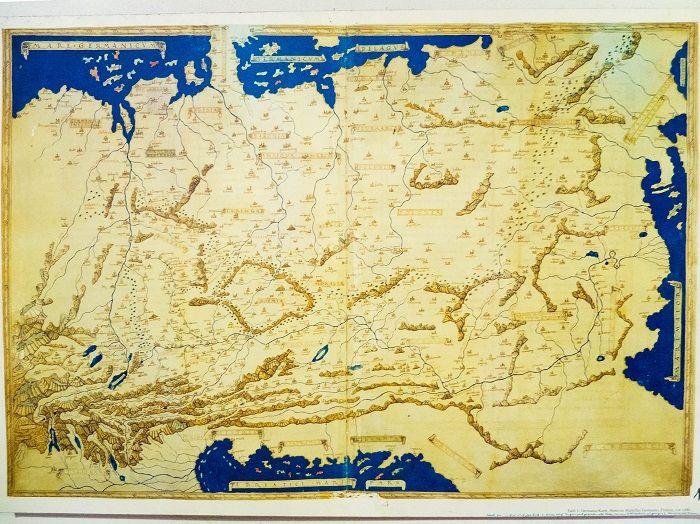 Die Germania-Karte im Cusanus Geburtshaus.