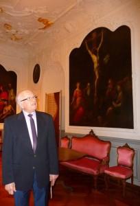 Cusanusstift: Rektor Leo Hofmann im Barocksaal.