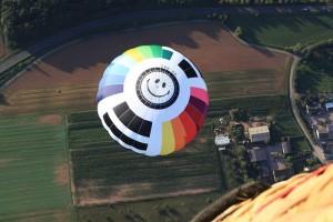 Ein Ballon von oben gesehen.