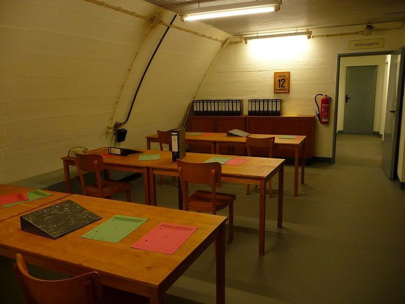 Bundesbank Bunker Cochem, Mosel, Arbeitsraum