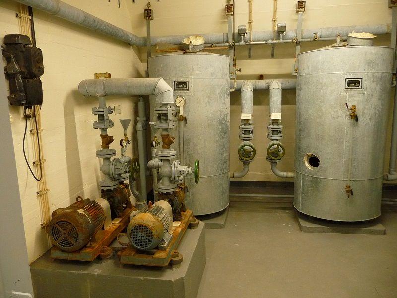 Bundesbank Bunker Cochem, Mosel, Technik, Wasser
