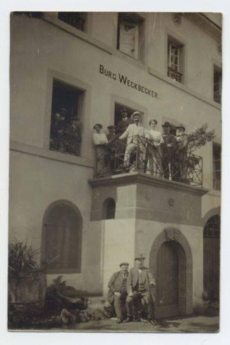 Burg Weckbecker im Jahr 1913