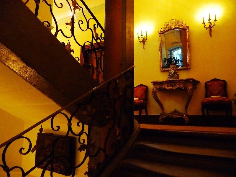 Der Treppenaufgang der Villa Böcking.