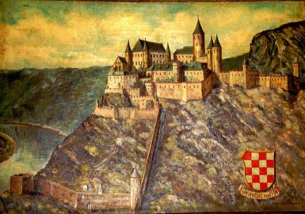 Gemälde der Grevenburg in der Burgschänke.