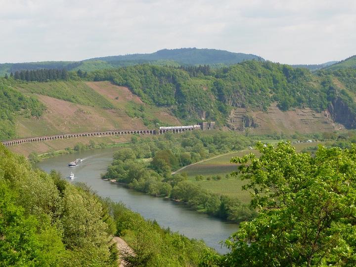 Mosel, Kanonenbahn, Hangviadukt