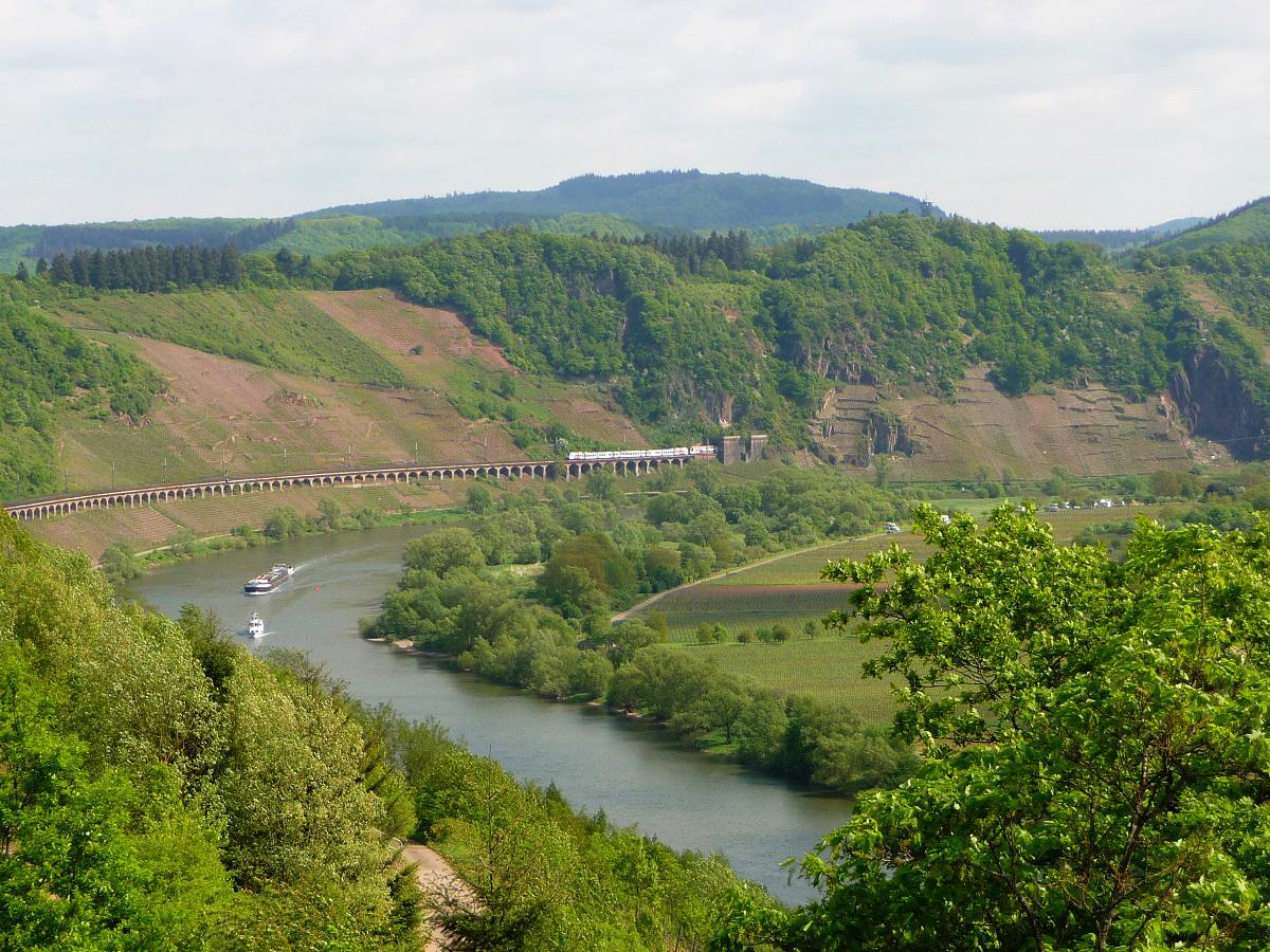 Mosel, Aussichtspunkte, Kanonenbahnstrecke