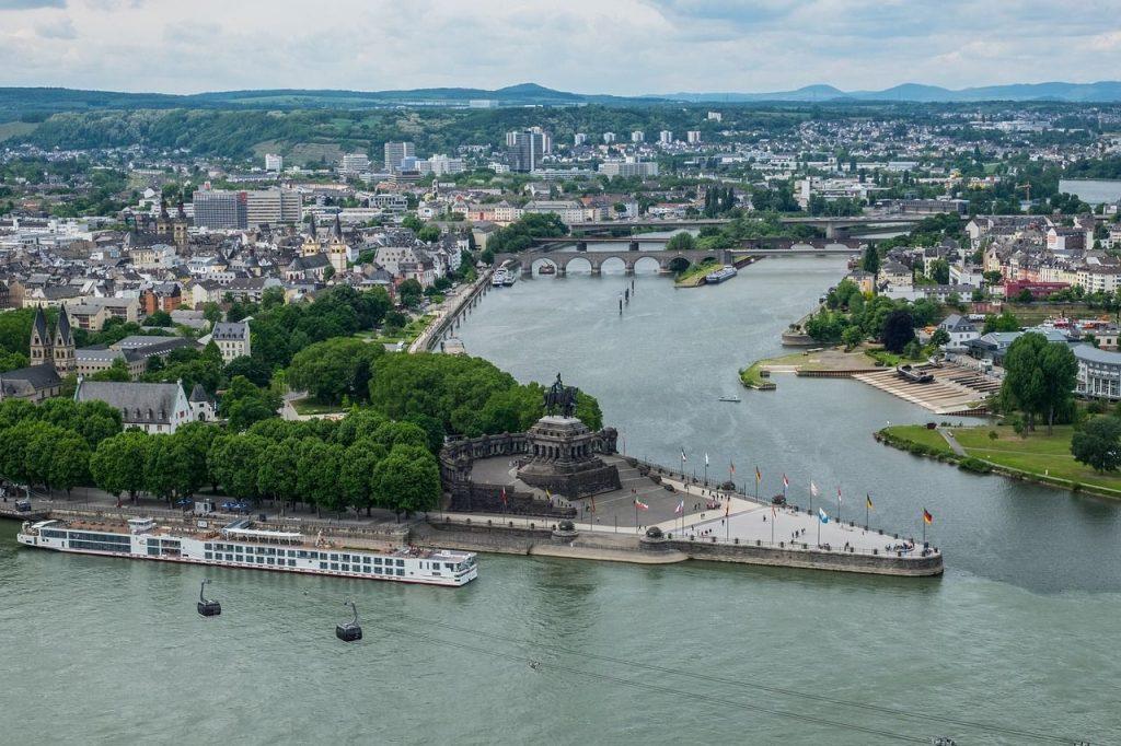 Koblenz, Seilbahn, Moselmündung