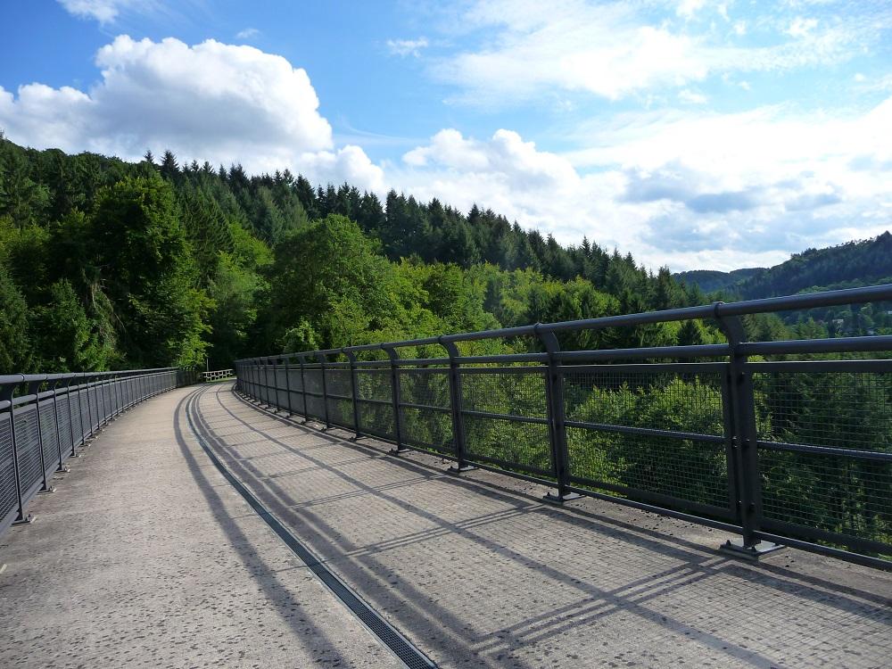 Maare-Mosel-Radweg, Eifel, Pleiner Viadukt