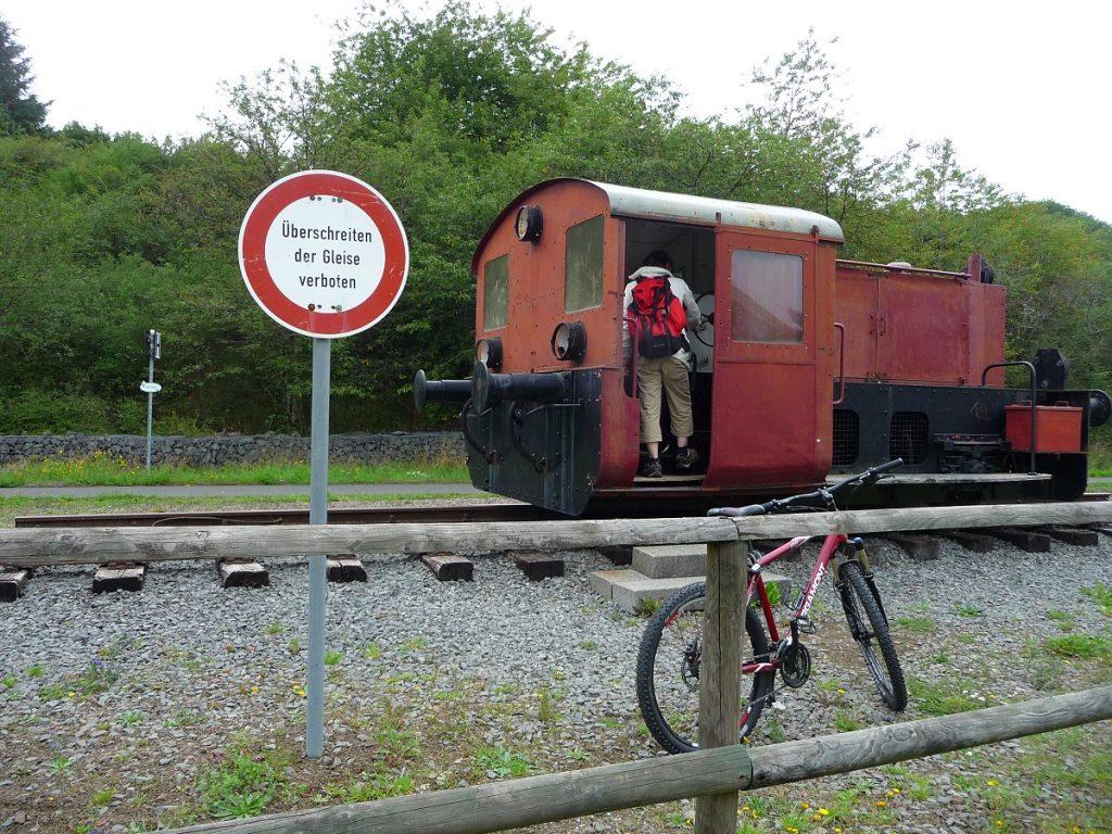 Maare-Mosel-Radweg, Eifel, Eisenbahn-Relikt