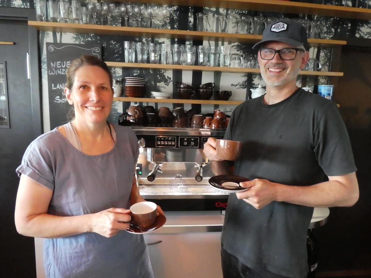Cafés, Schöne Aussicht, Anja, David