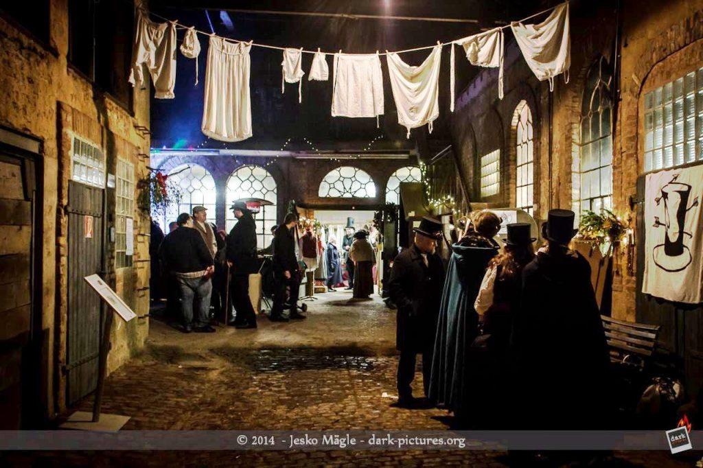 Saarburg, Steampunk, viktorianischer Weihnachtsmarkt.
