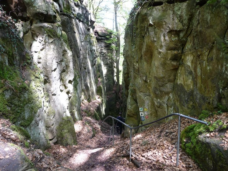 Teufelsschlucht, Eifel, Einstieg