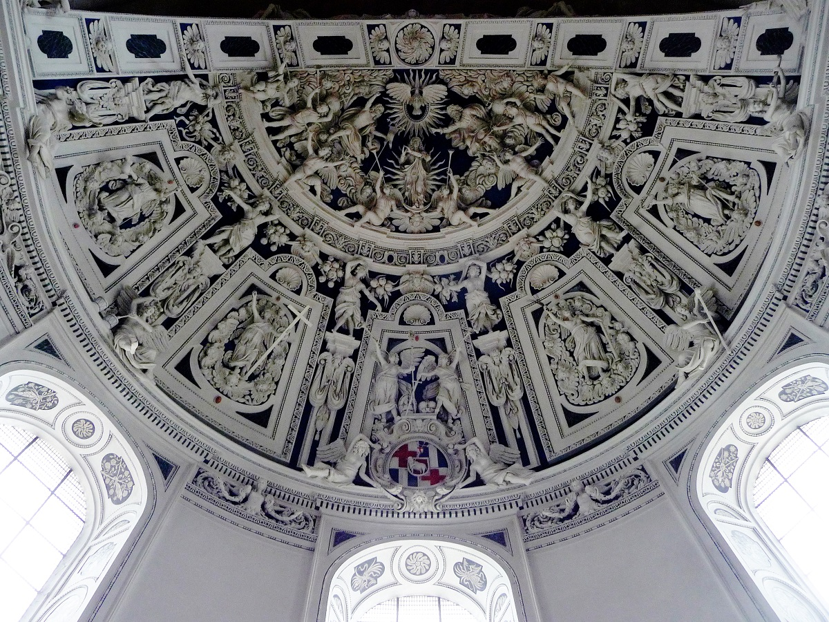 Kirchen, Dom, Trier, Stuckdecke