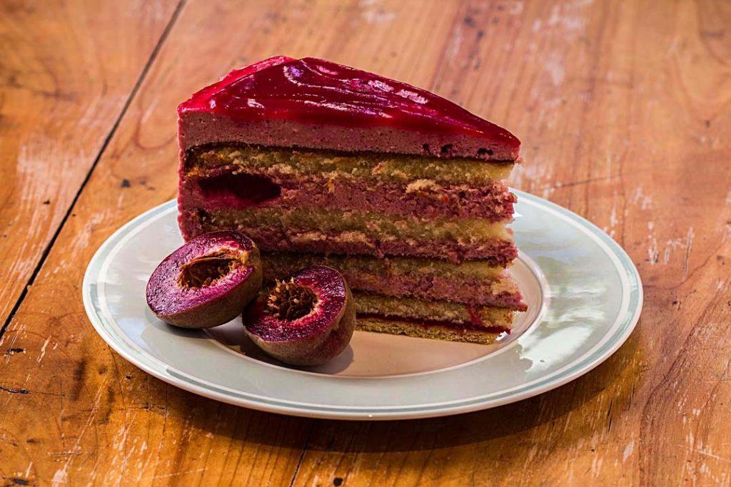 Weinbergpfirsich, Torte