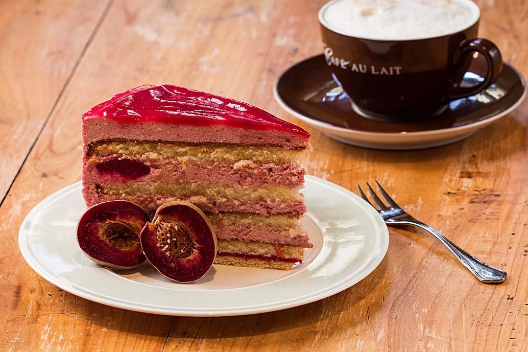Weinbergpfirsich-Torte